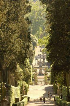 Los jardines Boboli del Palazzo Pitti. Florencia