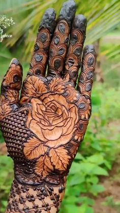 Rose Mehndi Designs, Henna Tattoo Designs Simple, Legs Mehndi Design, Back Hand Mehndi Designs, Latest Bridal Mehndi Designs, Full Hand Mehndi Designs, Henna Art Designs, Modern Mehndi Designs, Mehndi Designs For Girls