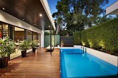 outdoor living spaces with pool - Google Search