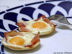 Receta Tartaletas de pan de molde con beicon y huevo de codorniz, para Lasrecetasdemasero - Petitchef