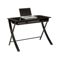 Office Star Black Tempered Glass Top Wood Corvus 43 Part 49