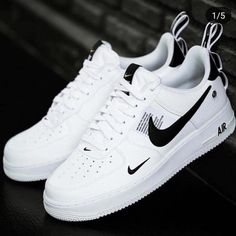 finest selection 8a987 0586c Nike Air Force 1 07 LV8 Utility White Black Yellow Men s Size 9 (US)