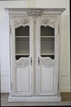 20th Century Painted Country French Display Cupboard from Full Bloom Cottage