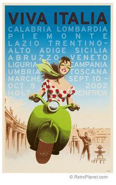 Viva Italia Travel Poster Vintage Italy Travel Prints RetroPlanet.com