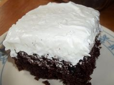 Mounds Cake Recipe. With choc. cake mix, instant choc. pudding, choc. chips, cool whip, coconut, sour cream.