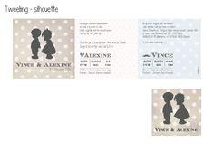 Tweeling - silhouette http://www.tantekaart.be/catalog/geboortekaartjes/tweeling-silhouette