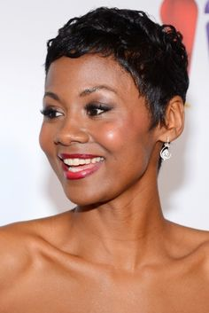 Best Short Hair: Emayatzy Corinealdi attended the 44th NAACP Image Awards in a sassy, shiny cropped cut.