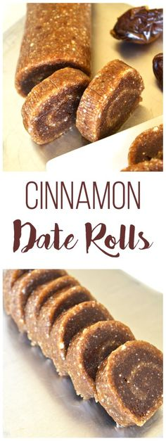 Cinnamon Date Rolls - Little Bits of. Need a sweet cinnamony treat? These Cinnamon Date Rolls have protein and no refined sugars! Just a few ingredients make the the perfect clean treat! Healthy Desserts, Raw Food Recipes, Dessert Recipes, Cooking Recipes, Healthy Recipes, Date Recipes Snacks, Date Recipes Vegan, Date Sugar Recipes, Cooking Tips
