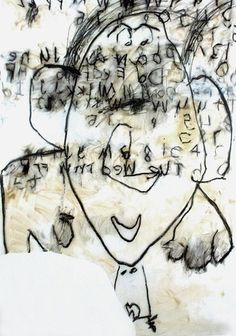 Dove Bradshaw. Untitled. 1987 - Oil, oilstick, china marker, and pencil on vellum