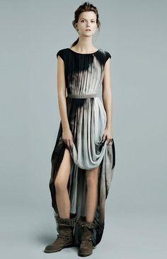 Zara space dyed maxi dress