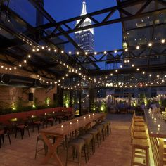 Refinery Rooftop (Midtown): Midtown The views here alone are pretty spectacular, but tack on a menu of great cocktails and seriously tasty bar snacks (mmm... fried cheese curds and meatball sliders...) and this is one rooftop you'll never want to be talked down from. (From Thrillist's: NYC's 12 Best Outdoor Restaurants, Bars, Beer Gardens, and More)