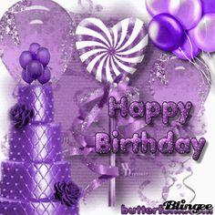 Birthday Wallpaper Purple Ideas For 2019 Purple Happy Birthday, Happy Birthday Wishes Cake, Happy Birthday Celebration, Happy Birthday Messages, Happy Birthday Greetings, Birthday Roses, Happy Birthday Gif Images, Happy Birthday Wallpaper, Happy Birthday Video