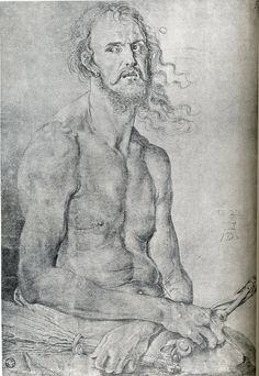 DURER Albrecht - German painter/engraver (Neurenberg 1471 - 1528) ~ Albrecht Dürer, self-portrait as Christ