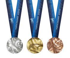 Medalla de los Juegos Olímpicos de invierno Vancouver 2010 en Canadá