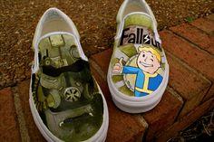 Fallout 3 Shoes by *MountainGiraffe  Traditional Art / Paintings / Miscellaneous2012 *MountainGiraffe