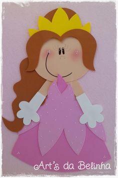 Aprender Brincando: Decoração para Sala de Aula e.v.a - Príncipes e Princesas