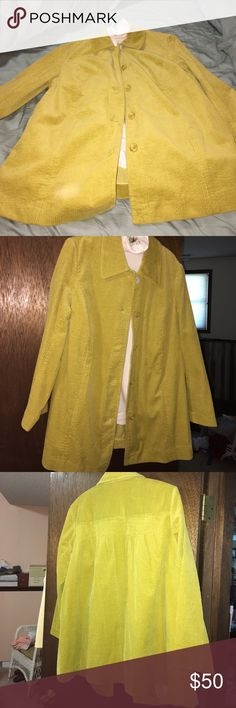 JJill  Corduroy Women's Coat This is a  100% cotton unlined women's coat .  5 button closure with outside pockets . jjill Jackets & Coats Pea Coats