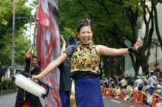 『明治神宮奉納 原宿表参道元氣祭りスーパーよさこい2014』  表参道パレード♪