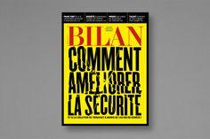 Magazine BILAN, design de couverture