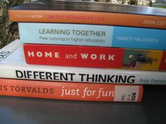 On the meaning of life. Learning together. Home and work. Different thinking. Just for fun. Book Spine, Life Learning, Meaning Of Life, Just For Fun, Higher Education, Meant To Be, Poetry, Books, Libros