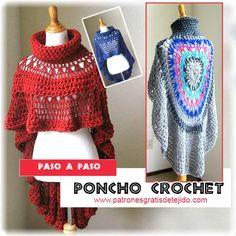 Cómo tejer Poncho Redondo con Cuello Alto / Paso a paso