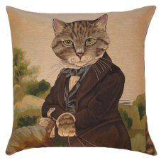 Sir Huxley Cat Belgian Tapestry Cushion