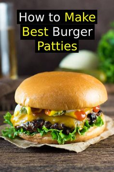 How to Make Burger Patties Like a Restaurant - summer recipes - Dinner Recipes Best Burger Recipe, Burger Recipes, Beef Recipes, Burger Patty Recipe, Cooking Recipes, Making Burger Patties, Hamburger Patties, Dinner Recipes Easy Quick, Healthy Dinner Recipes