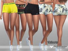 The Sims Resource: Sporty Shorts Pack by Pinkzombiecupcakes • Sims 4 Downloads
