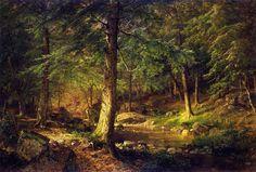 William Trost Richards Forest Scene 1875