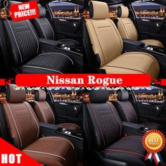 Nice Amazing Beyond Car Seat Cover Mat Cushion PU Leather 5 Seats M99G For Nissan