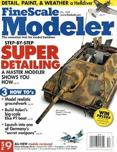Fine Scale Modeler Magazine Volume 26 Issue 10 December Dec 2008 -- New and awesome product awaits you, Read it now : Magazine Holders 10 December, Magazine Holders, Scale, Models, Awesome, Decor, Weighing Scale, Templates, Decoration