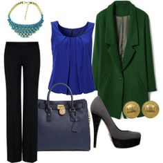 Women-Work-Outfit-Blue