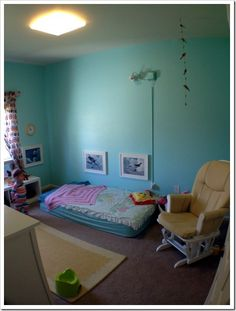 Montessori Toddler Room | Joyful Abode  i dunno about the floor bed thing but maybe with a toddler bed