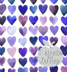 These water colour hearts would be lovely on ceramics as well!