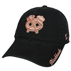 Get this Chicago Blackhawks Ladies Versailles Adjustable Cap at WrigleyvilleSports.com
