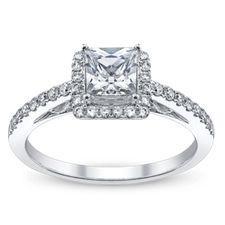 Ladies Platinum Engagement Ring