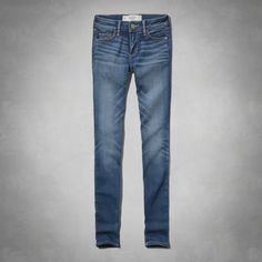 """Supersoft, whiskering and fading, iconic back pocket stitching, Super Skinny Fit, Vintage Abercrombie Medium Wash, Imported<br><br>64% cotton / 21% rayon / 13% polyester / 1% spandex <br><br> Short: 29.5"""" inseam, Reg: 31.5"""" inseam, Long: 33.5"""" inseam"""