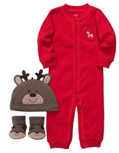 Carter's Unisex Baby Christmas Reindeer Outfit Set - we need this for baby's first Xmas! Baby Boy Outfits, Kids Outfits, Toddler Outfits, Carters Baby Boys, Toddler Boys, Carters Baby Clothes, Toddler Stuff, Babies Clothes, Babies Stuff