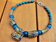 Tribal Necklace Ethnic Choker African Beaded Necklace Ghana