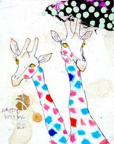 画「女子のおでこをつついて、こ~いつぅ♪!」[Naoto Kitamura] | ART-Meter