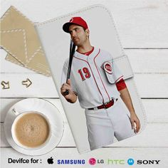 Joey Votto Cincinnati Reds Leather Wallet iPhone 4/4S 5S/C 6/6S Plus 7| Samsung…