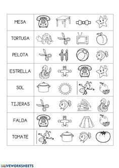 ¿que pone ahí? - Ficha interactiva Spanish Lessons For Kids, Teaching Spanish, Kindergarten Math Worksheets, Pre Writing, Home Schooling, Word Work, Kids Learning, Homeschool, Activities