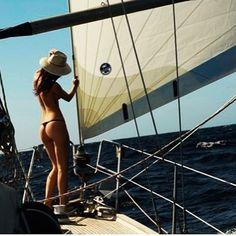 #sailing #sailboat #girlsailor #bikini by jaysailorlife