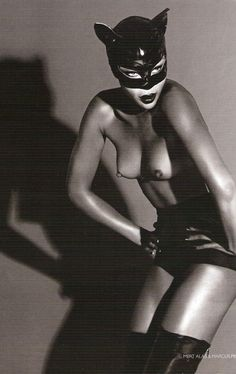 Naomi Campbell as Catwoman for Vogue Russia December 2008