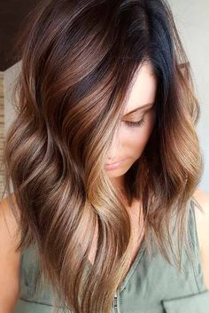 Cappuccino Brown #hairhighlights #wavyhighlights ★ Brown hair is often considered to be understated, but we think it is stunning and sexy. See these 20 sultry shades of brown for summer fun in the sun! #glaminati #lifestyle #brownhair