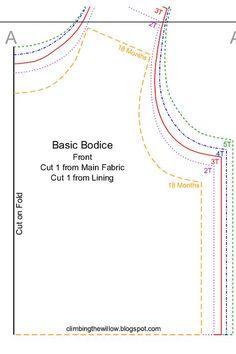 Free - basic bodice pattern