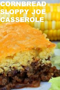 Sloppy Joe Casserole / Six Sisters' Stuff <br> Jiffy Recipes, Jiffy Cornbread Recipes, Beef Casserole Recipes, Cornbread Casserole, Casserole Dishes, Meat Recipes, Cooking Recipes, Budget Recipes, Meatball Recipes