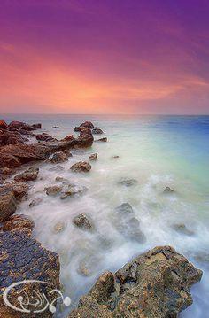North of Qatar sea