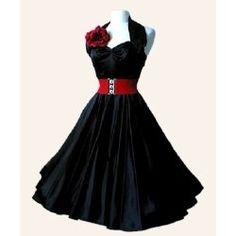 1950s Halterneck Plain Dress