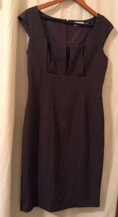 Womens Gray Calvin Klein Dress Size 8 #CalvinKlein #WigglePencil #WeartoWork